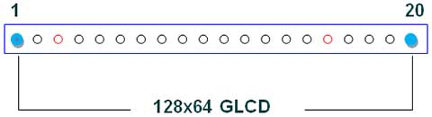 128x64 GLCD