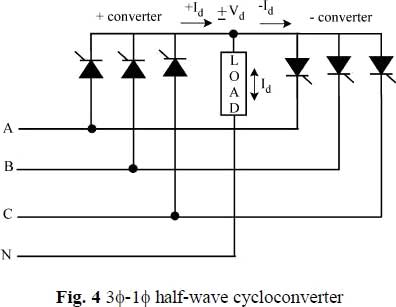 3 1 half wave cycloconverter introduction of single phase to single phase cycloconverter single phase to 3 phase converter wiring diagram at soozxer.org
