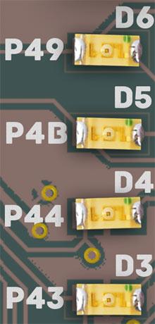 LEDS-of-Spartan3A-Stick-Board-FPGA-Kit