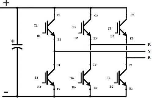three phase inverter Simple Inverter Block Diagram