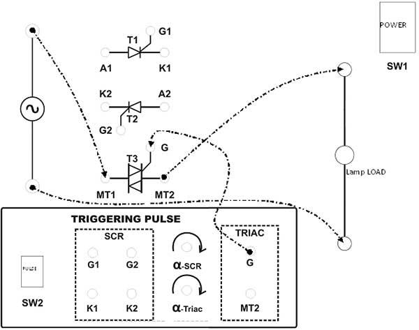 ac phase controller using triac