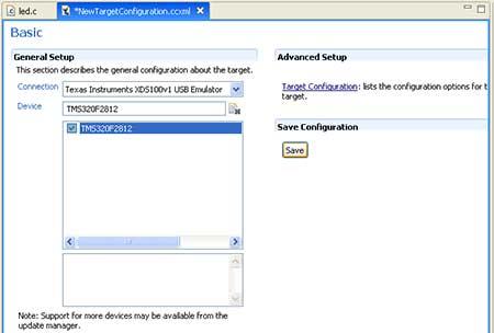 setting-target-for-tms320f2812.jpg