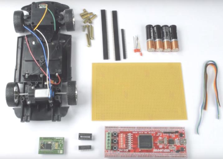 Bluetooth based RC car control using Spartan3an FPGA Project Kit