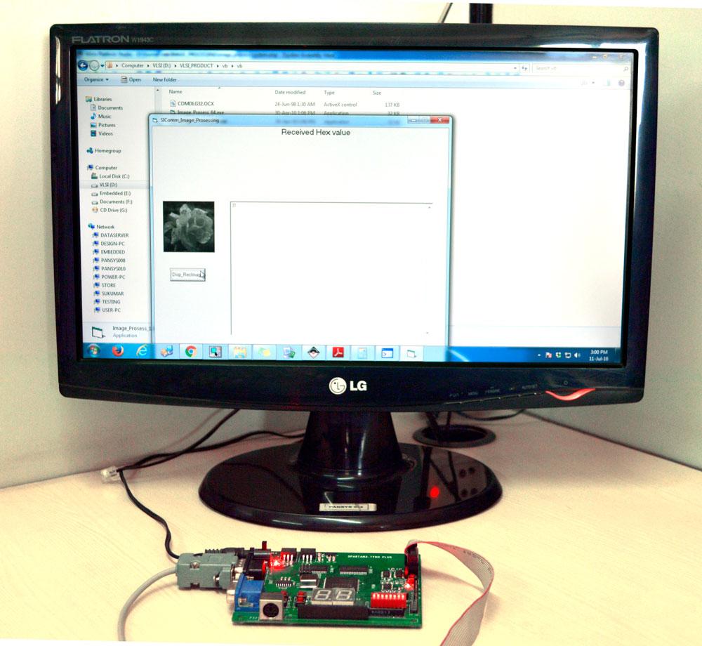 Output Image for Median Filtering using Spartan3 FPGA Image Processing Kit