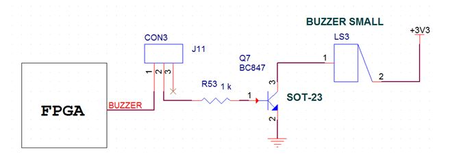 Schematics to Interface Buzzer with Spartan-6 FPGA