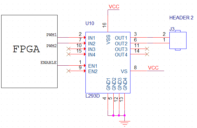 Schematics to Interface DC Motor with Virtex5 FPGA Development Kit