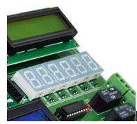 Seven Segment placement in Virtex5 FPGA Development Kit