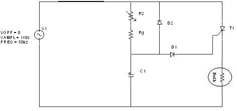 rc triggering circuit Simple Capacitor Circuit