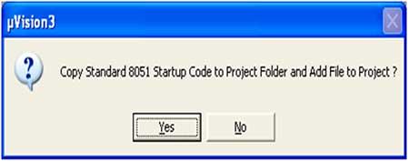 Copy standard 8051 startup code