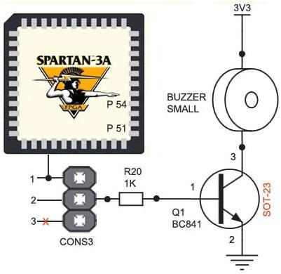 schematics-to-interface-buzzer-with-spartan-3an-fpga