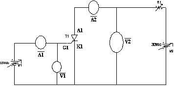 Circuit Diagram for VI Characteristics of SCR