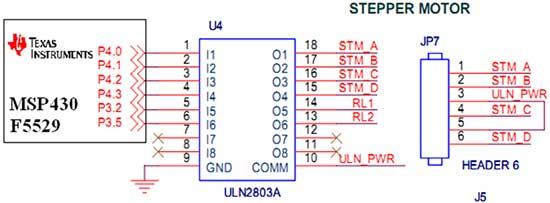 Circuit Diagram to Interface Stepper Motor
