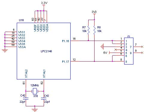 Circuit Diagram to Interface PS/2 with LPC2148