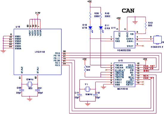 How to Interface SPI-CAN with LPC2148 ARM7 Advanced