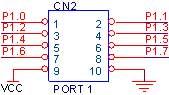 CN2 - 10PIN Box Header ( PORT 1 )