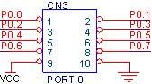 CN3 - 10PIN Box Header ( PORT 0 )
