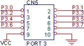 CN5 - 10PIN Box Header ( PORT 3 )