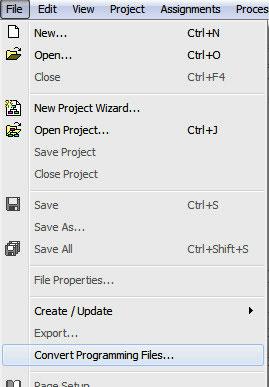 file-menu-to-convert-programming-files-in-quartus-ii