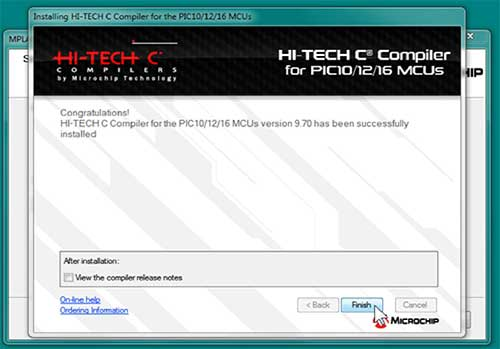 Installing HI-TECH C Complier