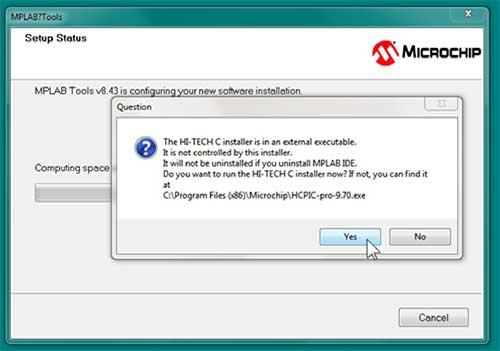 installation MPLAB IDE