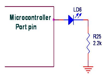 Interfacing LED to Microprocessor