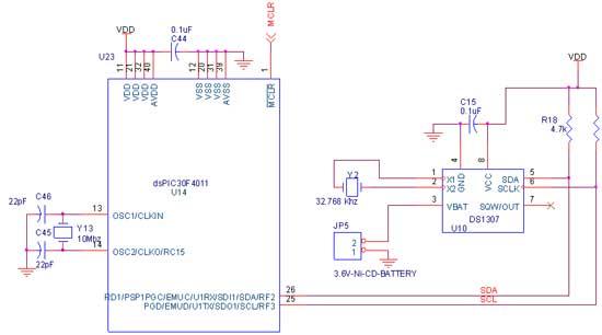 Circuit Diagram to Interface I2C–RTC