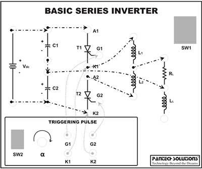 Inverter Circuit Diagram Using Scr