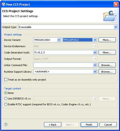 ccs-project-settings-for-tms320f2812