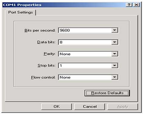 port-communication-settings