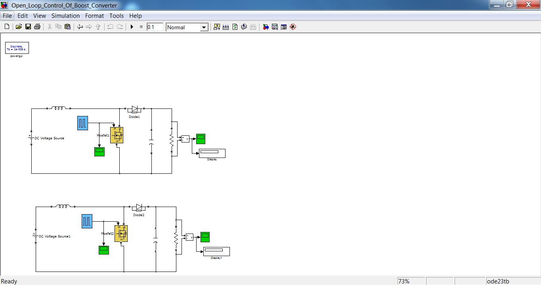 Open Loop Control Of Boost Converter Dc To Circuit Matlab Simulink Block Diagram For