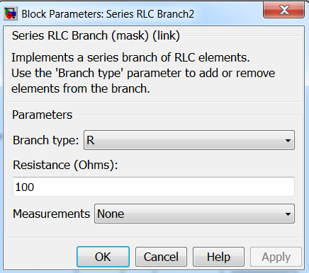 Load resistor parameter of Open Loop Control of Buck and Boost Converter