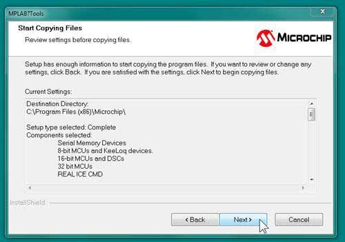 Start Copying Files