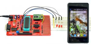 Mobile phone communication with Microcontroller