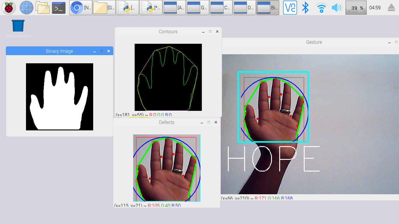Raspberry Pi based Sign Language Recognition System with OpenCV