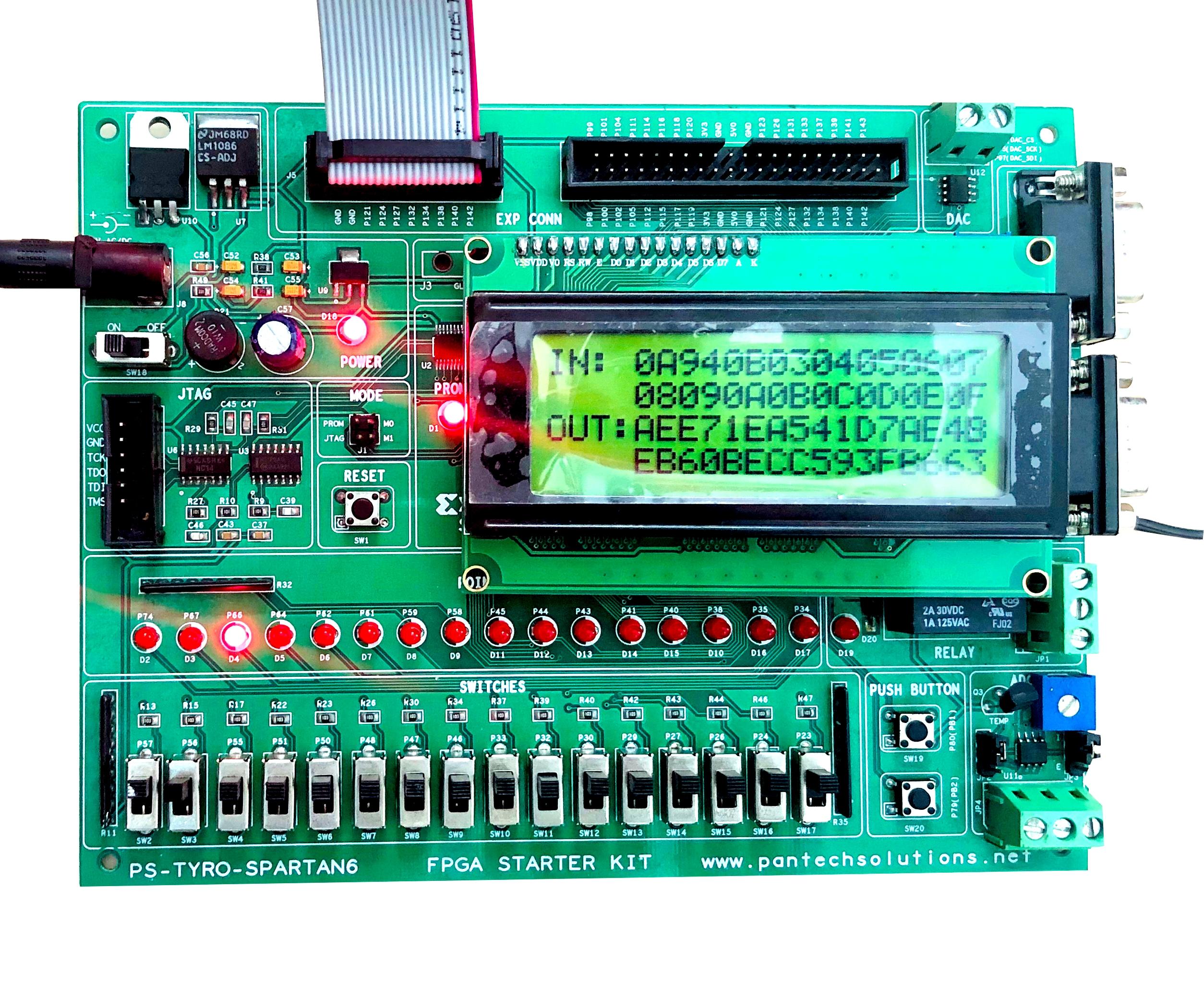 FPGA Implementation of AES Algorithm using Spartan6 FPGA Project Kit