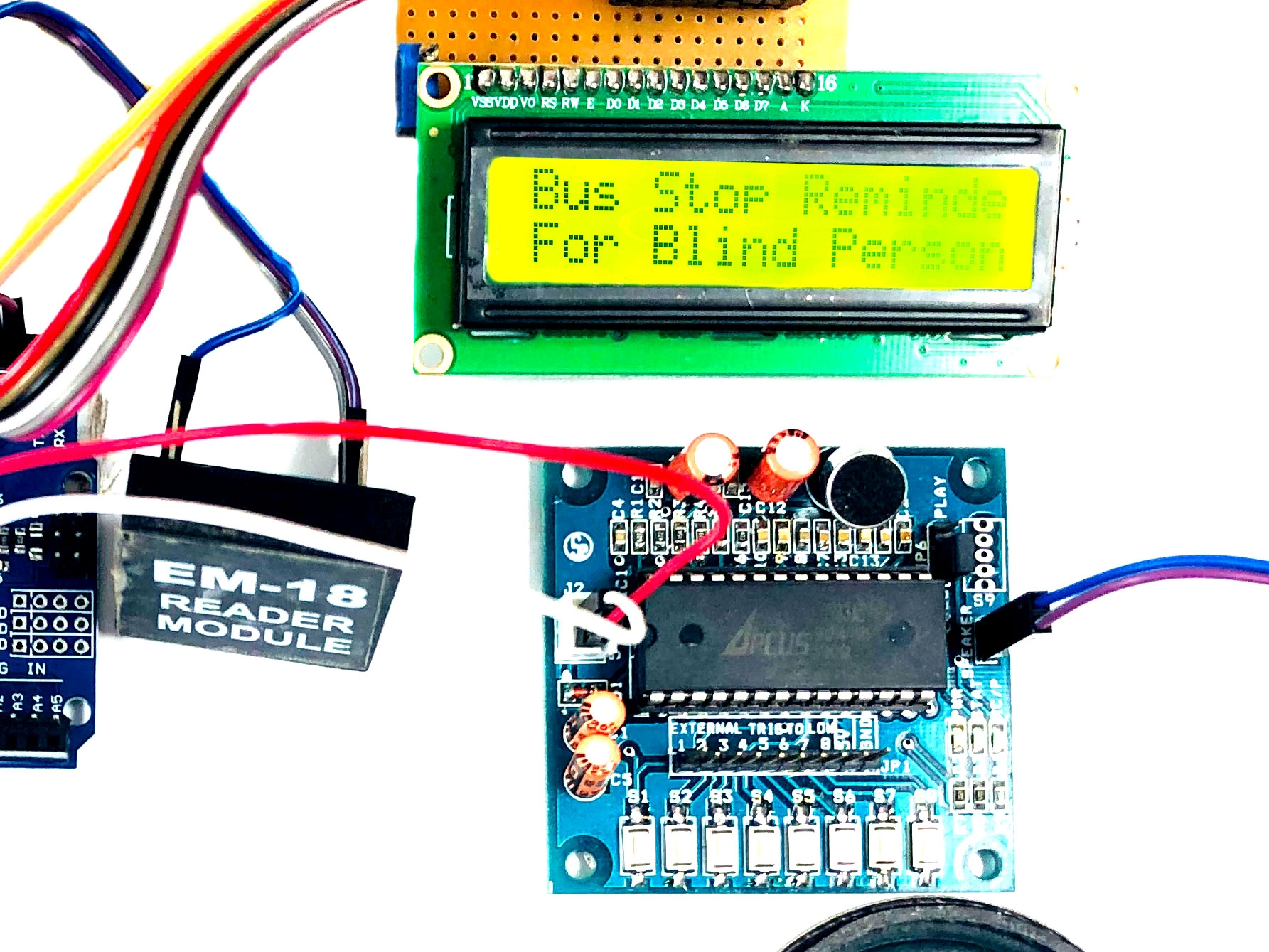 Bus Stop Reminder For Blind Person Using Rfid In Arduino Uno