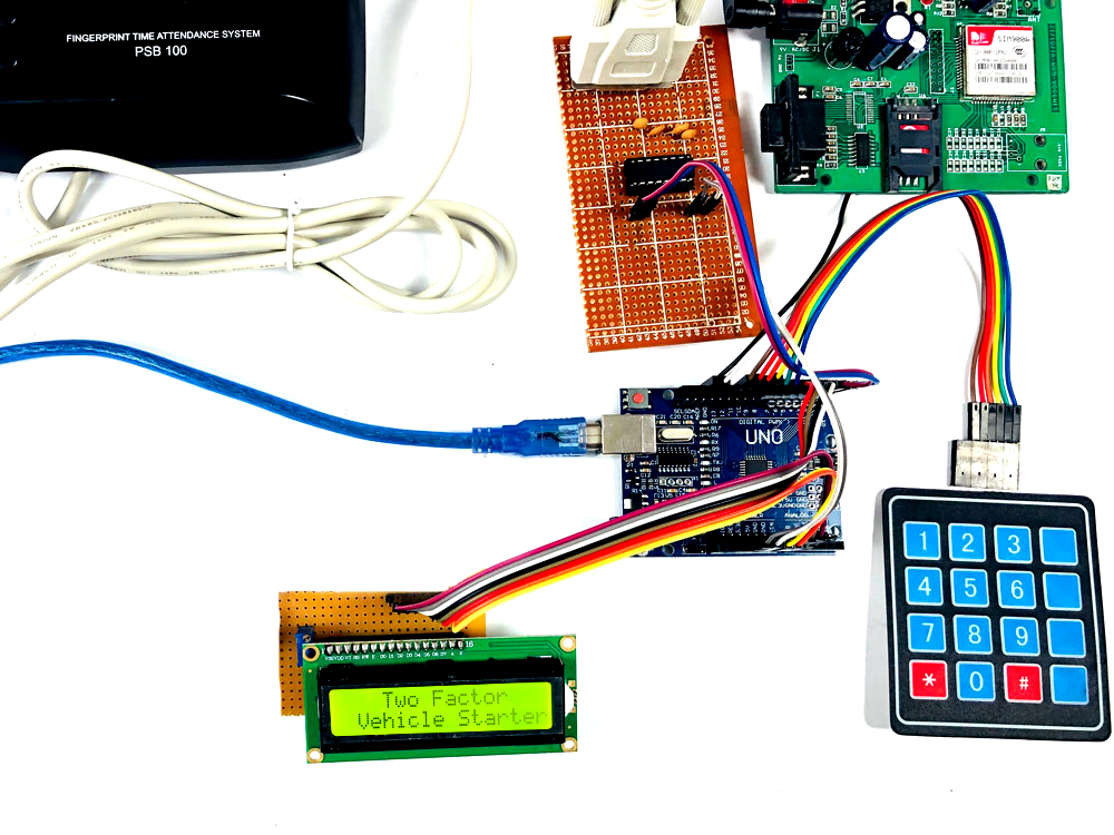 Two Factor Security in Car using Arduino uno