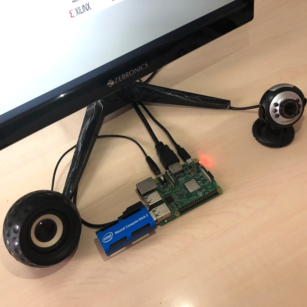 Real-time Multiple Face Detection using Raspberry Pi with Neural Compute Stick 2