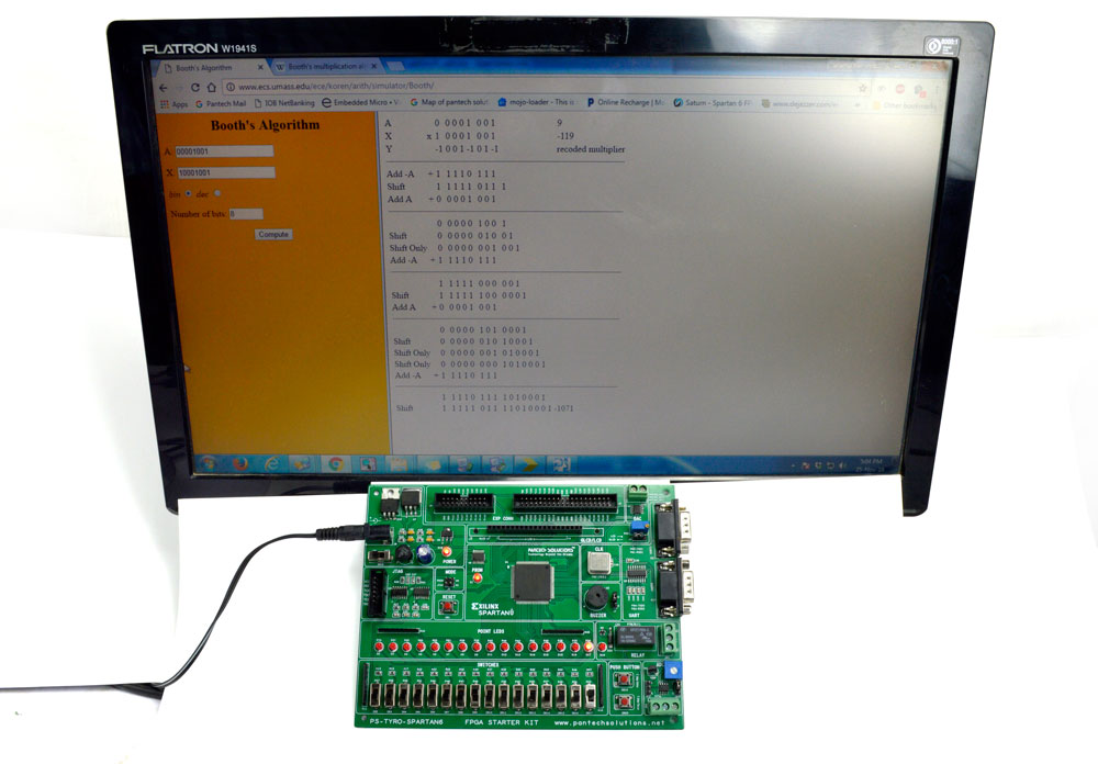 FPGA Implementation of Booth Multiplier using Spartan6 FPGA project Board