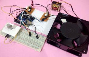 AC Fan Speed Control using Arduino and TRIAC -Arduino Mini Project