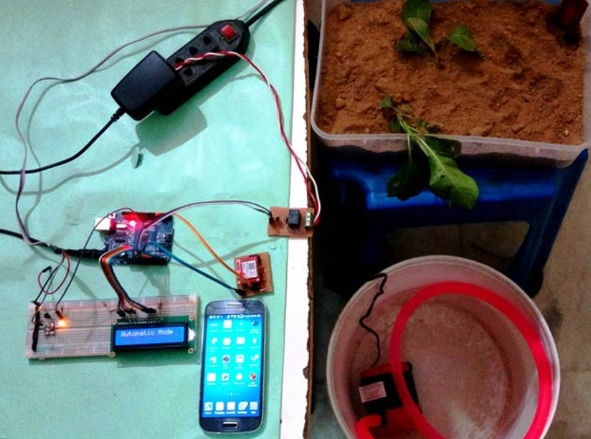 Arduino based Automatic Plant Irrigation System with Message Alert