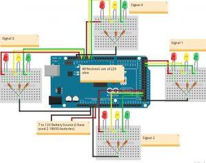 Arduino Based  Traffic Light Controller