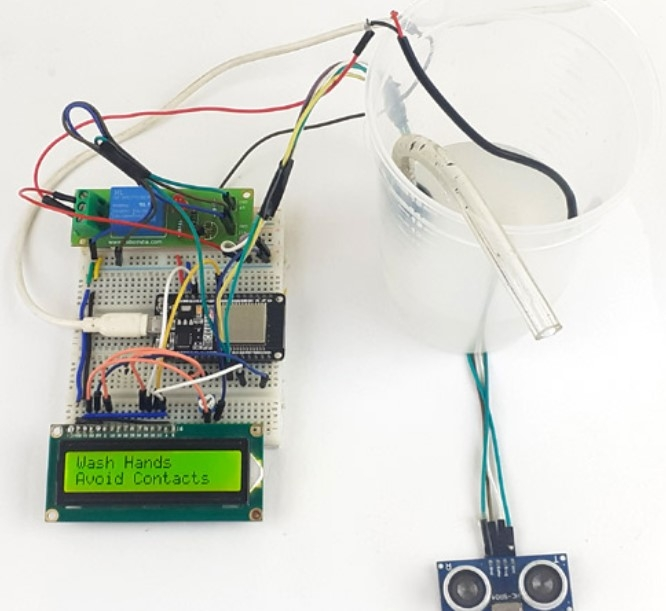 Automatic Hand Sanitizer Dispenser using ESP32 -ESP32 Mini Projects