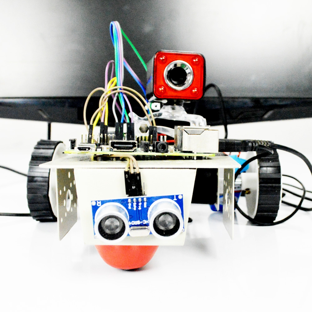 Color object following robotic car using Raspberry Pi with camera