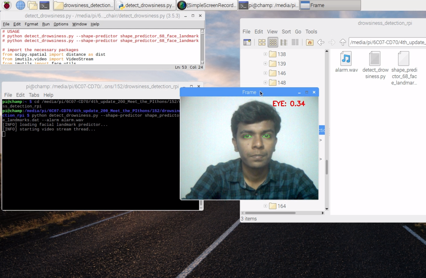 A smart driver monitoring system using Raspberry Pi with Open CV