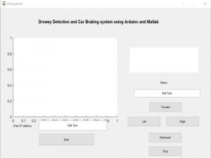 Drowsy Detection and Car Braking system using Arduino and Matlab