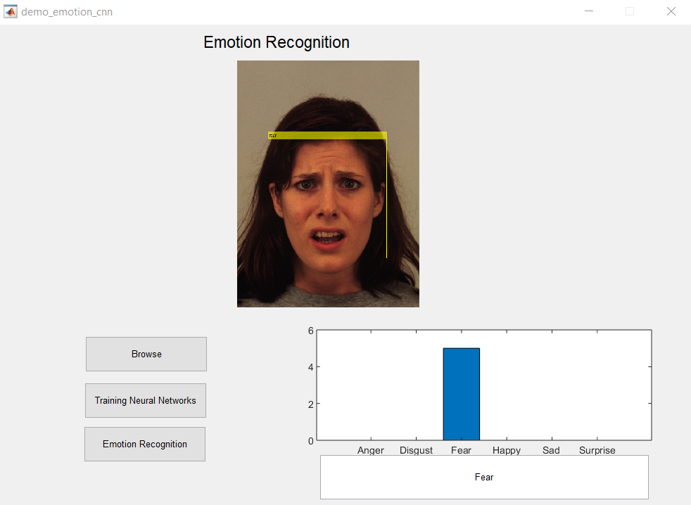 Facial Emotion recognition using Deep Learning -Matlab