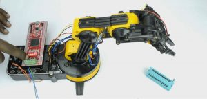 FPGA Based Robotic ARM Controller using Spartan3an Project Kit