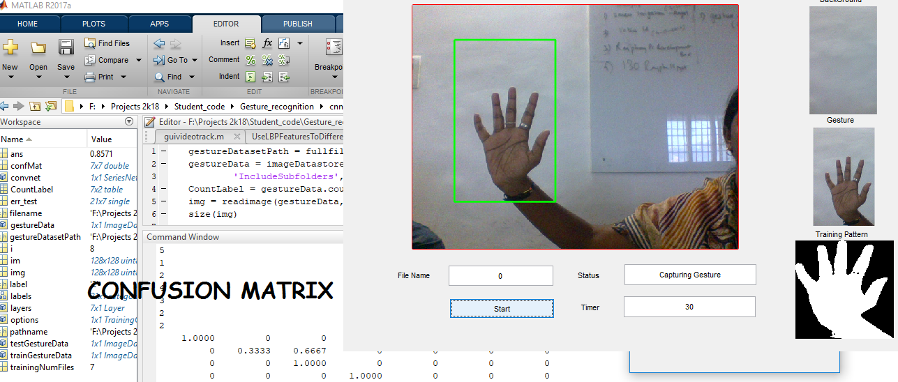 Hand Gesture Recognition using Deep Learning in Matlab