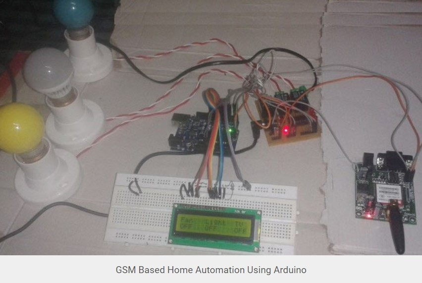 GSM Based Home Automation using Arduino -Arduino Mini Projects